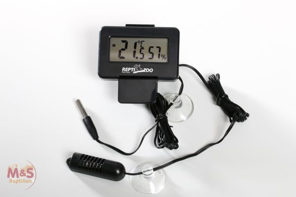 Reptizoo Thermo-/Hygrometer mit Fühler SH126 WEEE RegNr. 82392108