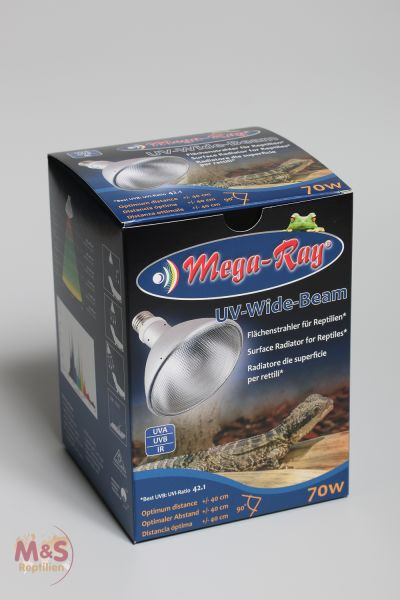 Mega Ray HID-Lampe (UV-Lampe) 70 Watt ( Wide Beam / 90°Grad)