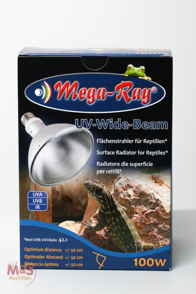 Mega Ray HID-Lampe (UV-Lampe) 100 Watt ( Wide Beam / 90°Grad)